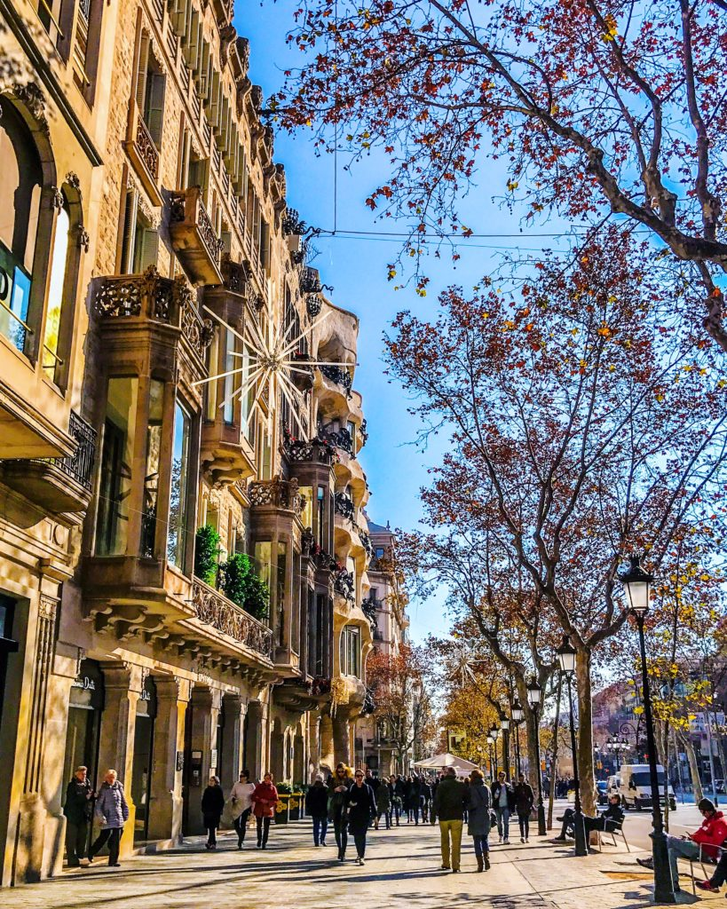 Passeig de Gràcia is the most important and beautiful commercial street in BCN