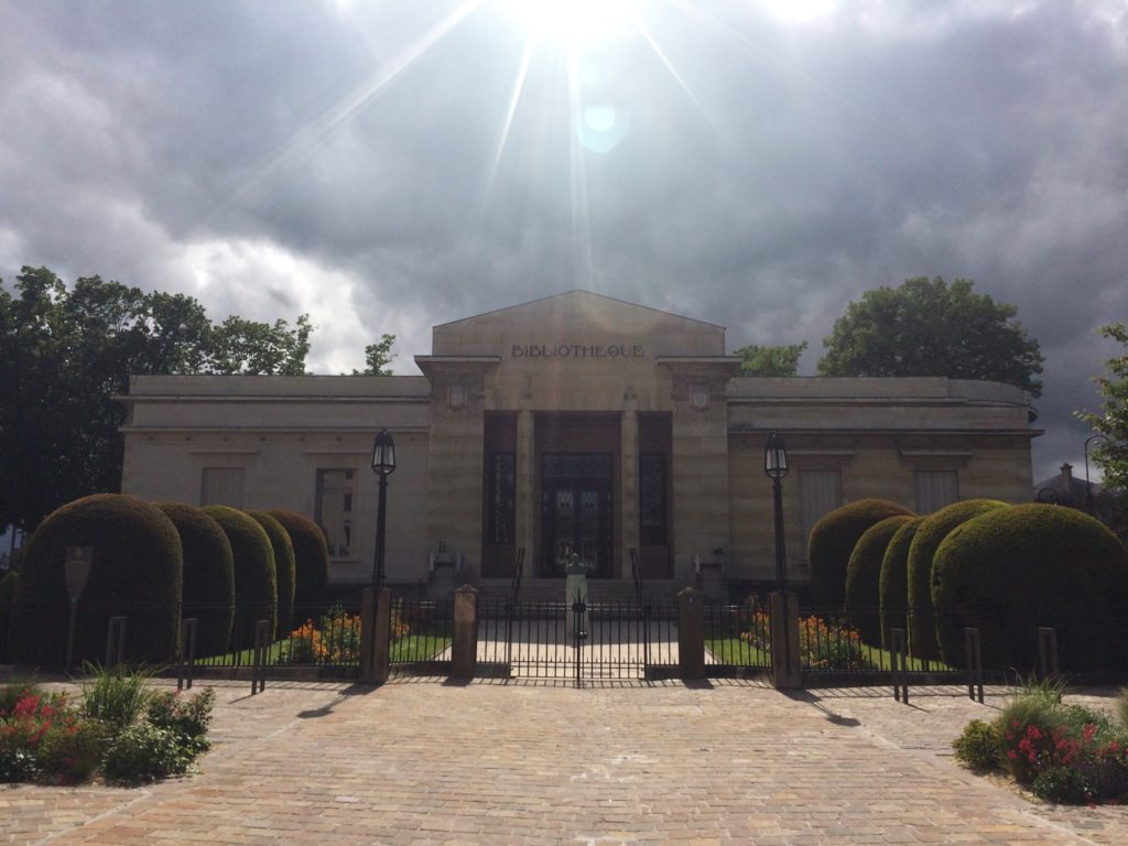 The Carnegie Library was donated by Andrew Carnegie