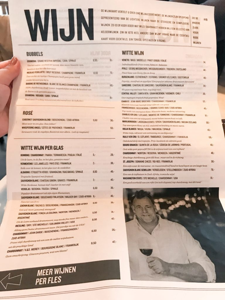 Newspaper style innovative menu