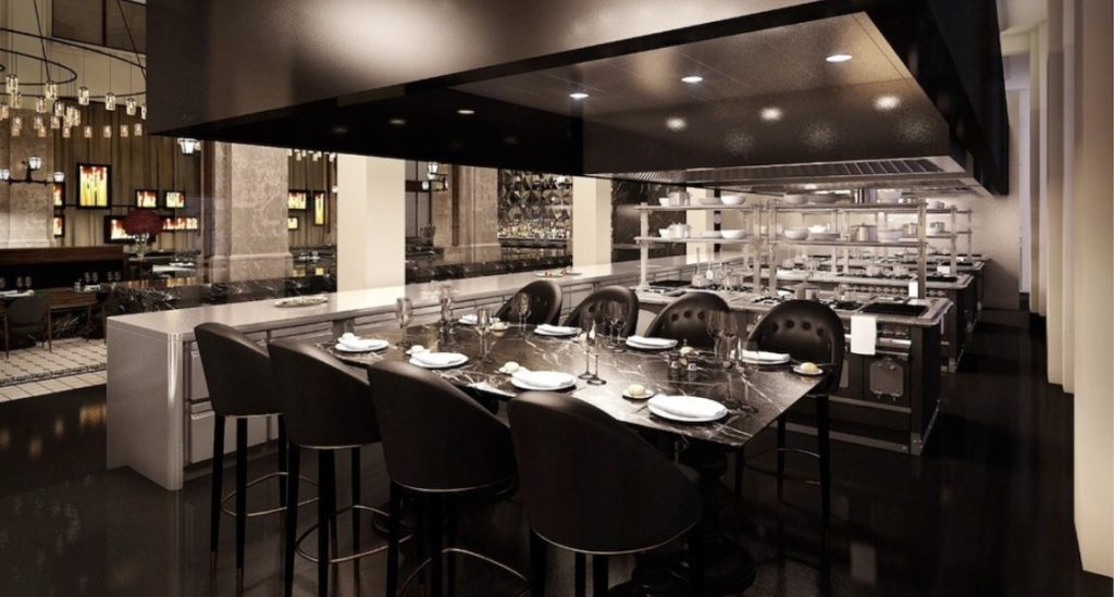 Chef's table at The Duchess