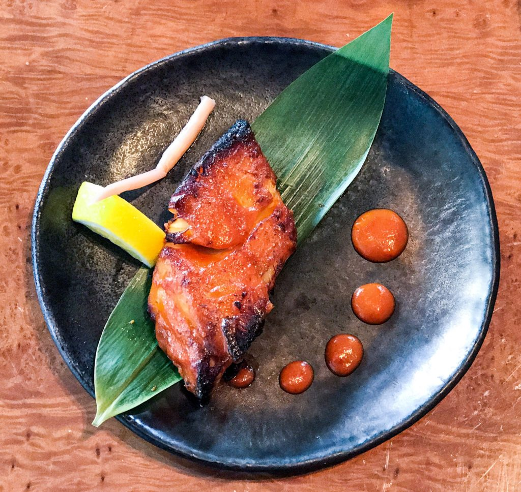 Photogenic and yummy Cod fish with Miso sauce