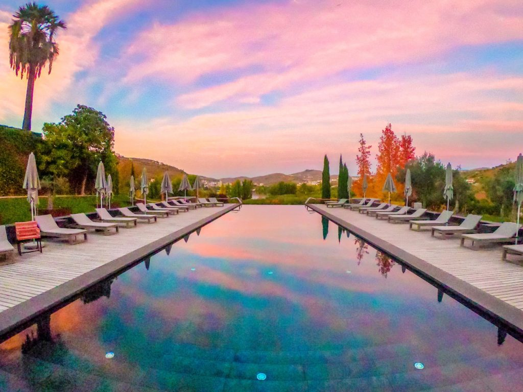 My first pink sunset at Six Senses Douro Valley