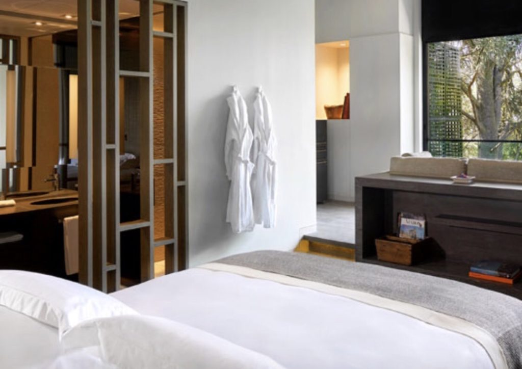 Ultra modern suite at Six Senses Douro Valley